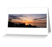 Toronto Skyline Panorama at Sunrise Greeting Card