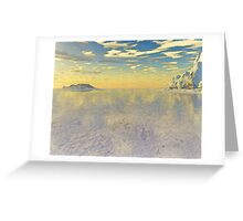 Sunrise Over Glacial Bay Greeting Card