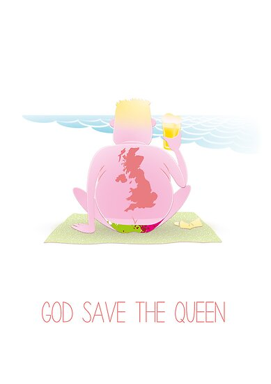 God save the queen by Hermoso Ilustración
