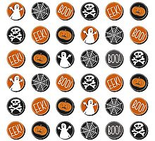 boo! eek! halloween scary sticker pattern by demonique