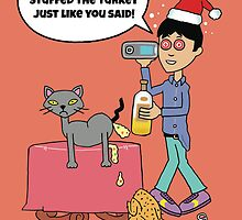 Funny Christmas drinking card by partypeepsfun