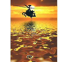 Apache AH-1  Attack Helicopter Photographic Print