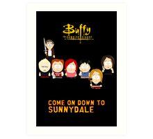 Buffy the Vampire Slayer as South Park Art Print