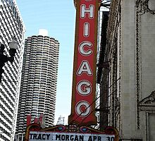 "Chicago Theater with ""Watercolor"" Effect by Frank Romeo"