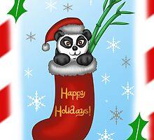Christmas Panda by thekohakudragon