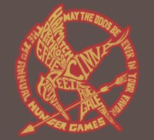 Typographic Mockingjay by PanemPropaganda