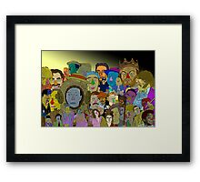 Comedy Collage Culture Cloth Zinc Collection Framed Print