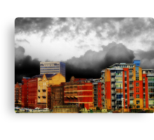 Stormy City Canvas Print