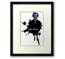 Edgar Allan Poe ink blot Culture Cloth Zinc Collection Framed Print