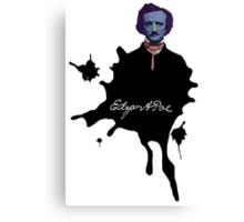 Edgar Allan Poe ink blot Culture Cloth Zinc Collection Canvas Print