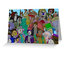 Pop Culture Collage by Culture Cloth Zinc Collection Greeting Card