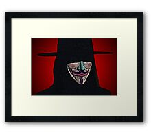 Guy Fawkes V for Vendetta Anonymous mask Culture Cloth Zinc Collection Framed Print