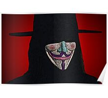 Guy Fawkes V for Vendetta Anonymous mask Culture Cloth Zinc Collection Poster