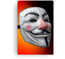 Guy Fawkes V for Vendetta Anonymous mask 2 Culture Cloth Zinc Collection Canvas Print