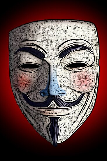 Guy Fawkes V for Vendetta Anonymous mask 3 Culture Cloth Zinc Collection by CultureCloth