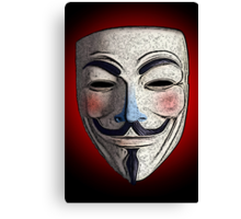 Guy Fawkes V for Vendetta Anonymous mask 3 Culture Cloth Zinc Collection Canvas Print