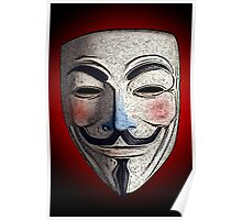Guy Fawkes V for Vendetta Anonymous mask 3 Culture Cloth Zinc Collection Poster
