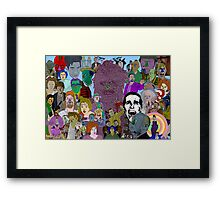Movie Collage by Culture Cloth Zinc Collection Framed Print