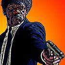 Pulp Fiction Samuel L. Jackson by Culture Cloth Zinc Collection by CultureCloth