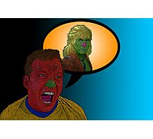 Star Trek Captain Kirk Kahn!  by Culture Cloth Zinc Collection Photographic Print