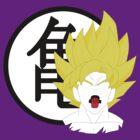 Goku Bust & Roshi Symbol  by Dalyz