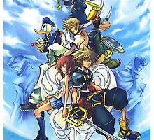 Kingdom Hearts II iPhone Case by NellyMushBean