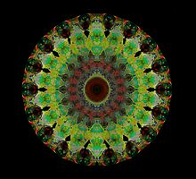 Heart Aura - Mandala Art By Sharon Cummings by Sharon Cummings