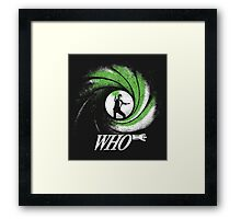 The Name's Who Framed Print