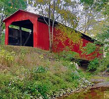 Little Red Covered Bridge by Kenneth Keifer