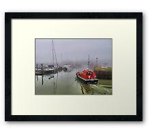 Foggy Lowestoft Framed Print