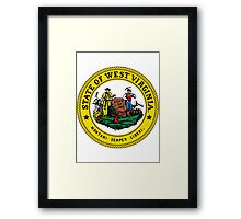 West Virginia | State Seal | SteezeFactory.com Framed Print