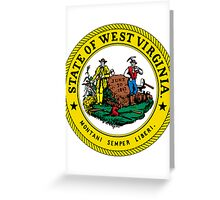 West Virginia | State Seal | SteezeFactory.com Greeting Card