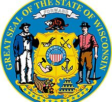 Wisconsin | State Seal | SteezeFactory.com by FreshThreadShop