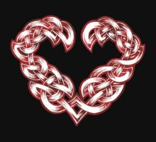 Celtic Heart - Red trim with White inlay by portiswood