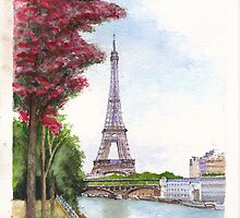 Paris in Spring - Ile aux Cygnes by Dai Wynn