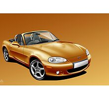 Mazda MX5 mk2 Poster Illustration by Autographics