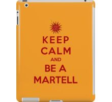 Keep Calm And Be A Martell (Color Version) iPad Case/Skin