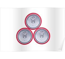 Three drink cans Poster