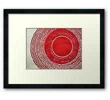 Red Kachina original painting Framed Print