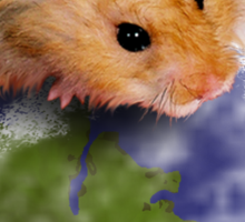 Earth Day Hamster Sticker