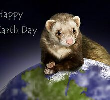 Happy Earth Day Ferret by jkartlife