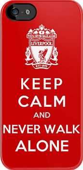 Keep Calm And Never Walk Alone by Royal Bros Art