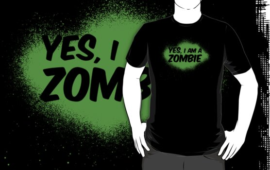 YES, I AM A ZOMBIE by cocolima