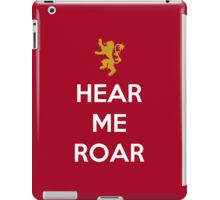 House Lanister Hear Me Roar iPad Case/Skin