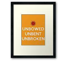 House Martell Unbowed Unbent Unbroken Framed Print