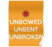 House Martell Unbowed Unbent Unbroken Poster