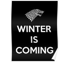 House Stark Winter Is Coming Poster