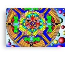 Mind map as a Mandala Canvas Print
