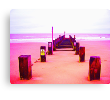 Out to Sea- Magenta Canvas Print