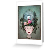 Moonlight Garden Greeting Card